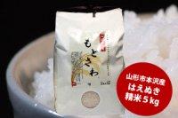 山形の米 「もとさわ」 精米5kg (山形県産はえぬき)
