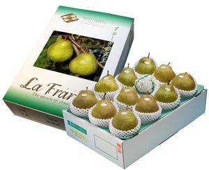 画像1: 山形のラフランス 5kg 化粧箱入 12玉 ( 5L ) 最高級贈答用