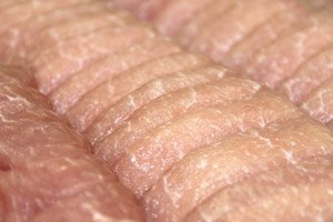 画像1: 米沢産天元豚 ローススライス 500g (すき焼き・しゃぶしゃぶ用)